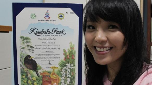 Mount Kinabalu Certificate