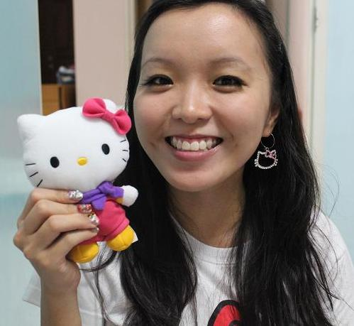 Hello Kitty Tee, Earrings, Plushie, Nails