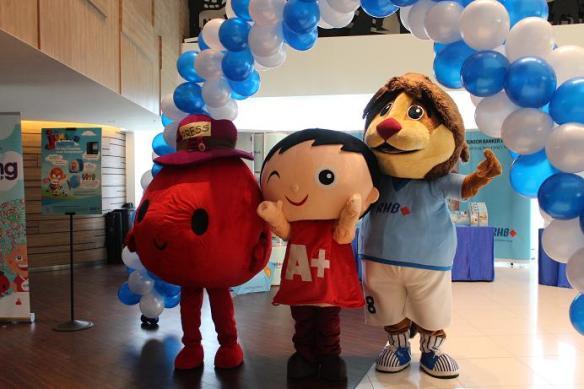 3 mascots