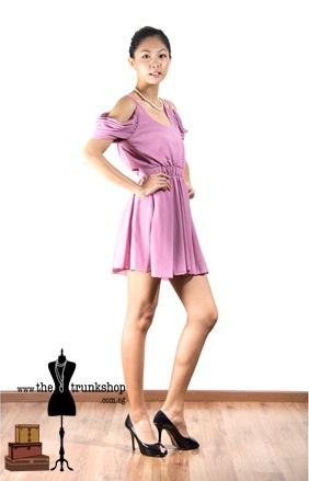 Bias Cut Dress - www.thetrunkshop.com.sg