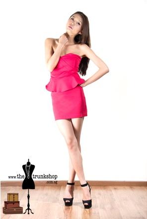Peplum Tube Dress - www.thetrunkshop.com.sg