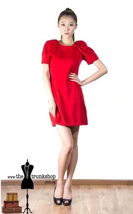 Peplum Work Dress - www.thetrunkshop.com.sg