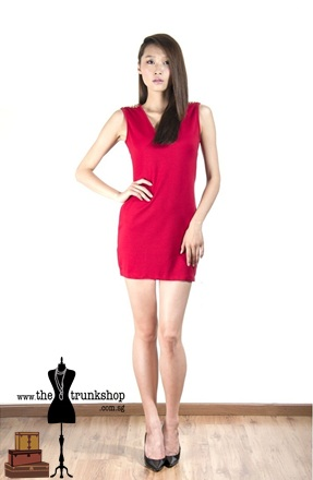 Sleeveless Dress with Stud Detail - www.thetrunkshop.com.sg