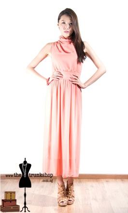 Turtleneck Sleeveless Dress - www.thetrunkshop.com.sg