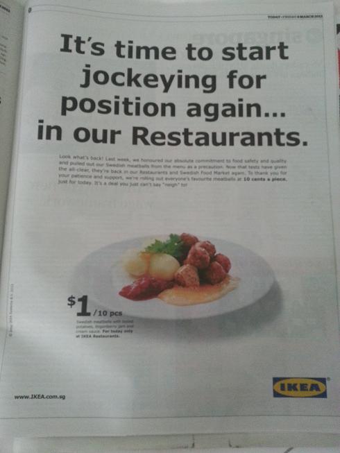 IKEA meatball ad