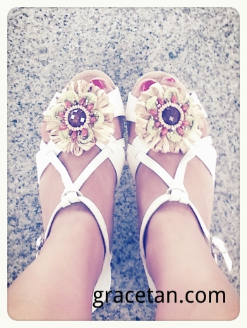 Haute Shuz Bar Cream Sandal Flats
