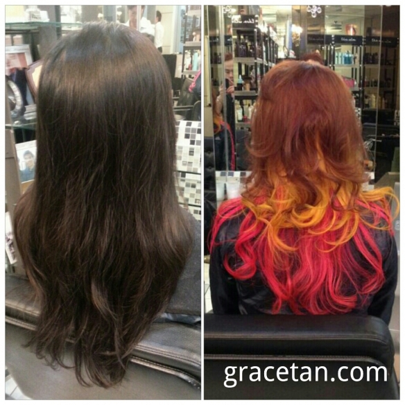 Hair Color Change at Eden Salon, Cold Storage Jelita