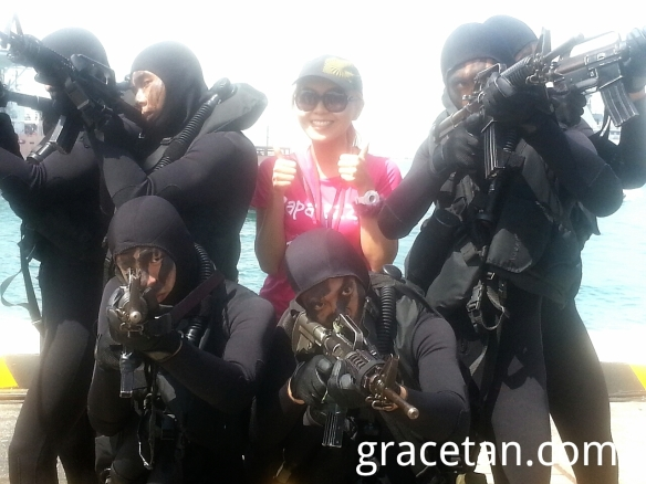 With naval divers