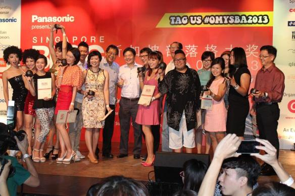Singapore Blog Awards 2013 Winners