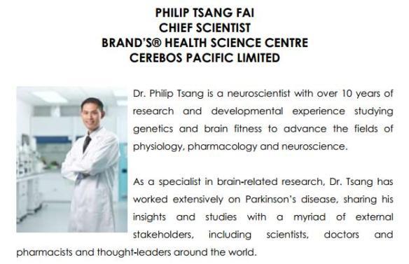 BRANDS Dr Tsang