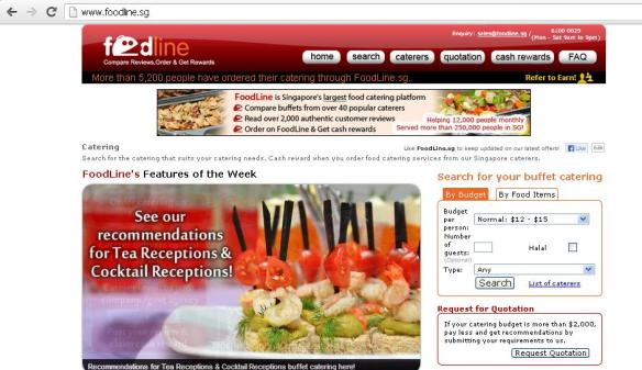 FoodLine Singapore Catering Portal