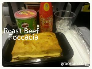 Scoot Roast Beef Foccacia Sandwich