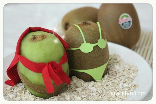 Zespri Super Kiwi and Bikini Babe