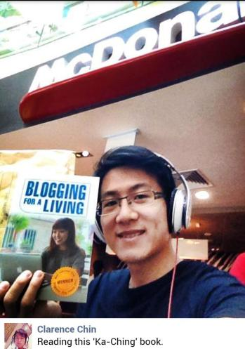 Clarence and Blogging For A Living book