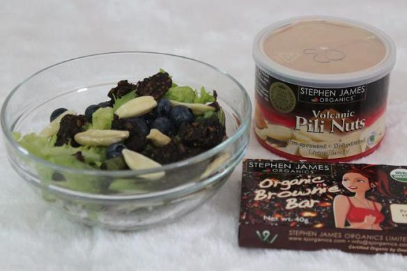 Pili Nuts and Brownie Bar Salad