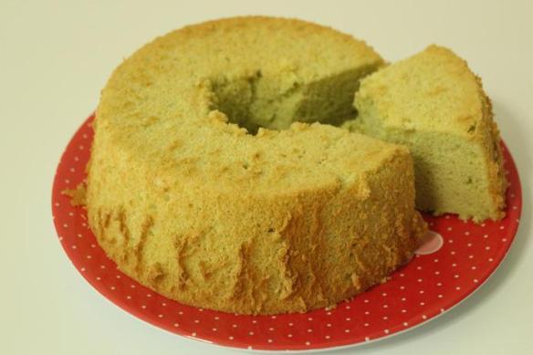 organic pandan chiffon cake