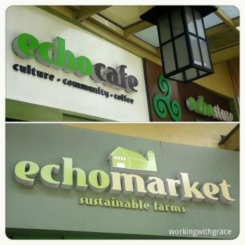 Echomarket cafe store Manila