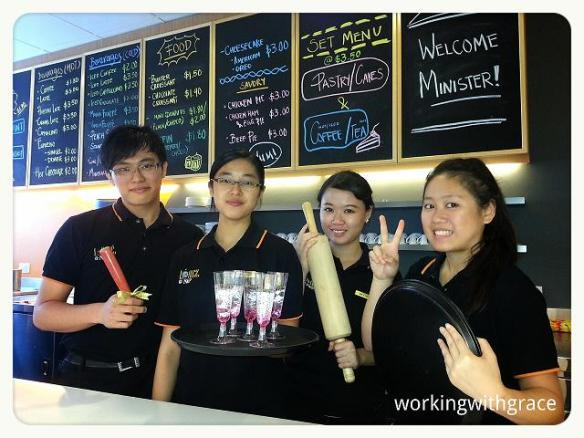 Nanyang Polytechnic Diploma in Food & Beverage Business students