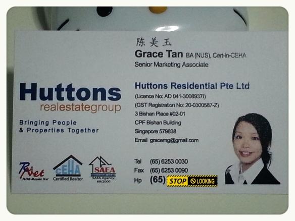 Huttons Namecard