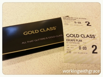 Golden Village Gold Class tickets