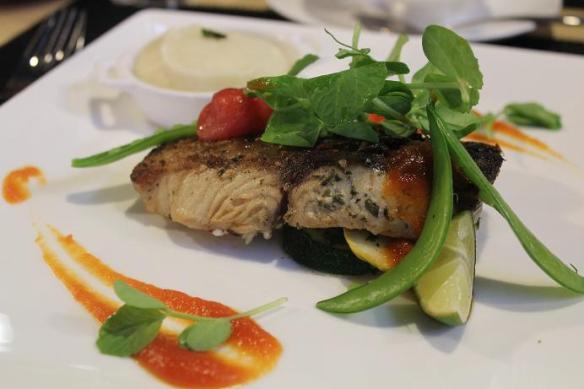 Nanyang Polytechnic L'Rez Seared Fillet of Sea Bass with Papaya Sauce