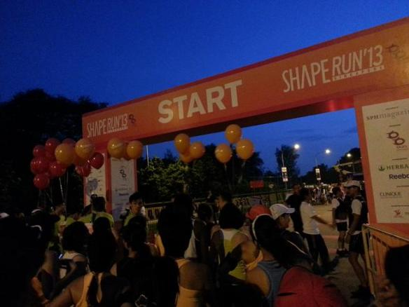 Shape Run flagoff point
