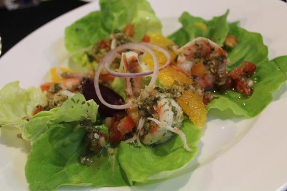 Nanyang Polytechnic L'Rez Spiced Prawn and Citrus Salad