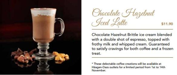 Haagen Dazs Chocolate Hazelnut Iced Latte