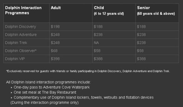 RWS Dolphin Island Ticket Prices