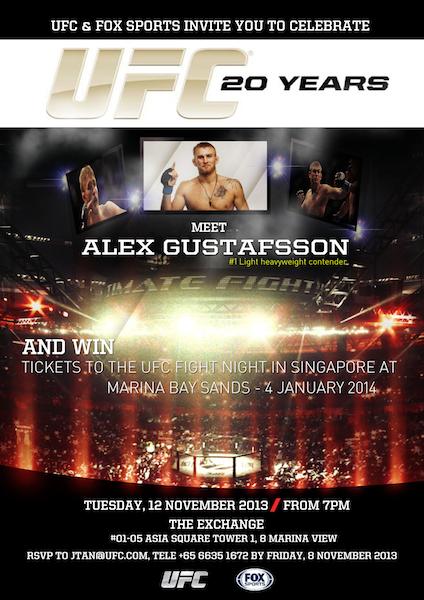Alex Gustafsson in Singapore
