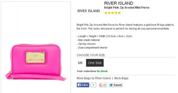 Zalora River Island purse