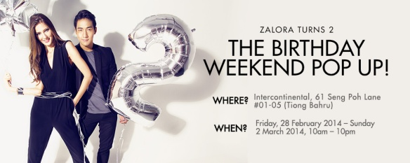 Zalora Birthday Pop-up