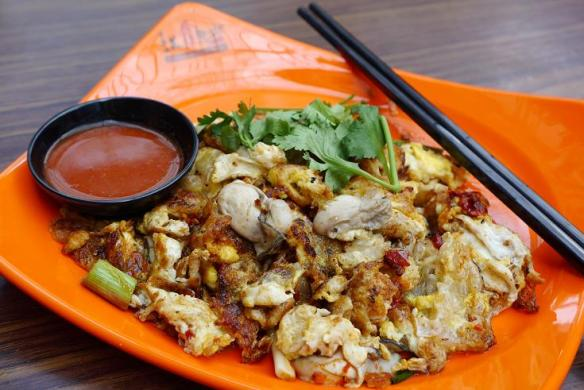 Chinatown Food Street Oyster Omelette