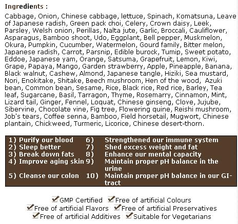 Sense 108 ingredients