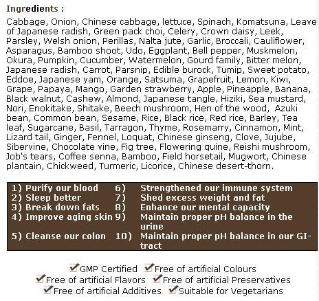 Sense 108 ingredients