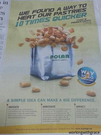 Straits Times ad on productivity