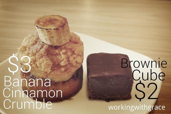 The Missing Pan Banana Cinnamon Crumble and Brownie Cube