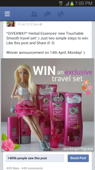 Herbal Essences giveaway