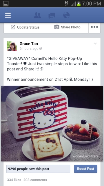 Cornell Hello Kitty Toaster