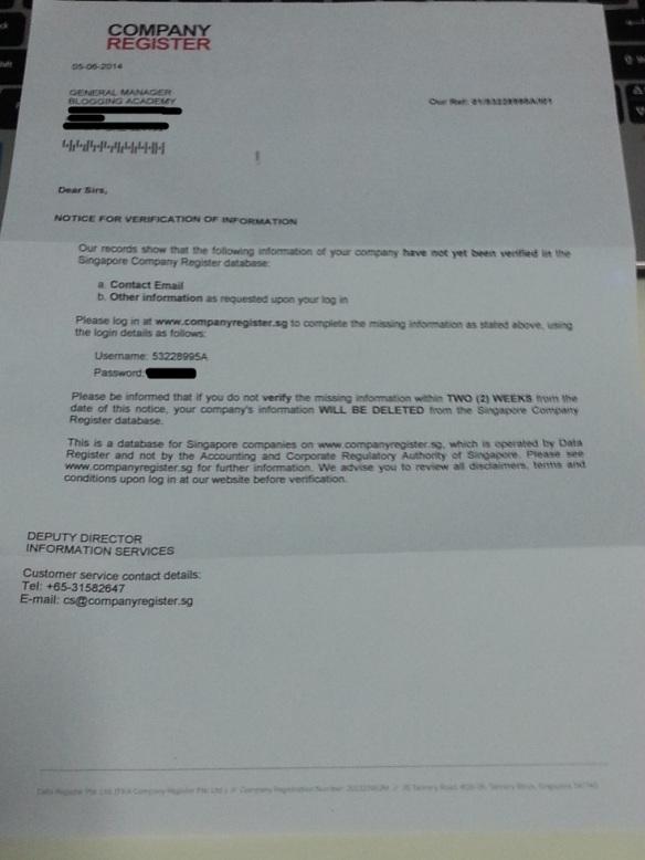Singapore Company Register