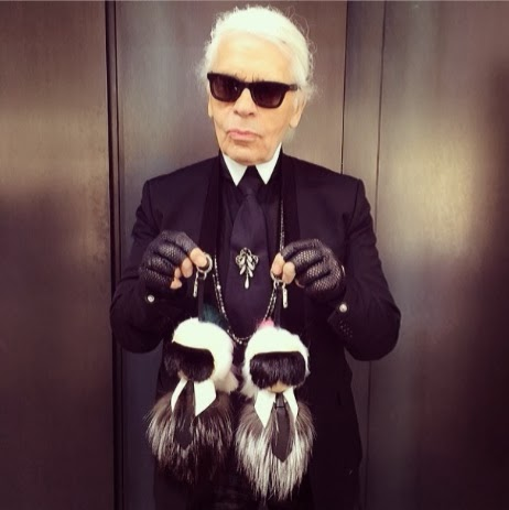 Karl Lagerfeld bag charms