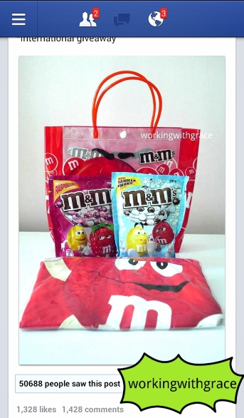 M&M's giveaway