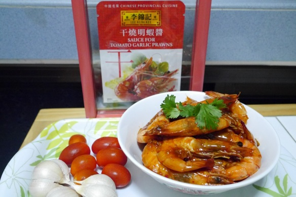 lee kum kee sauce for tomato garlic prawns