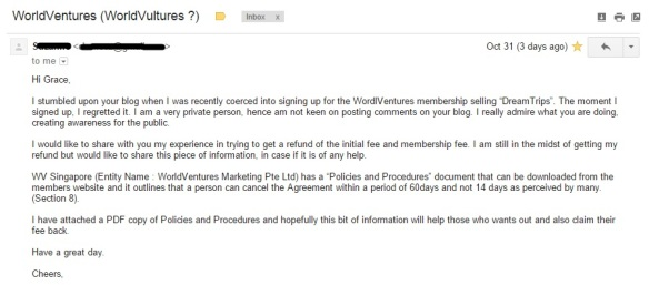 World Ventures Refund