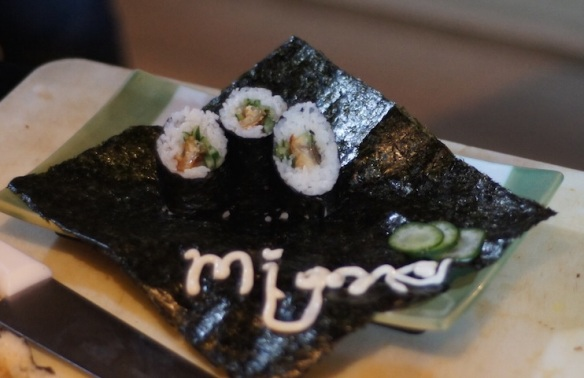 sushi for Tarra Budiman
