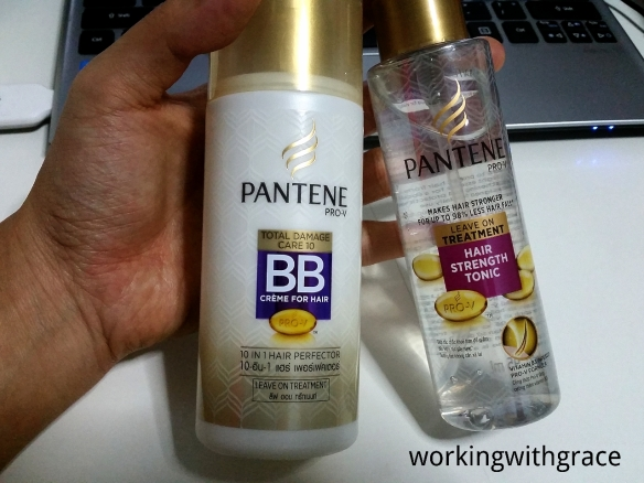 Pantene BB Creme for Hair and Hair Strength Tonic