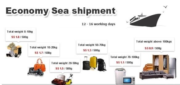 SGshop economy sea shipment