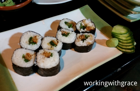Sushi from chef