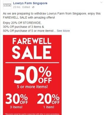 Lowrys Farm Singapore