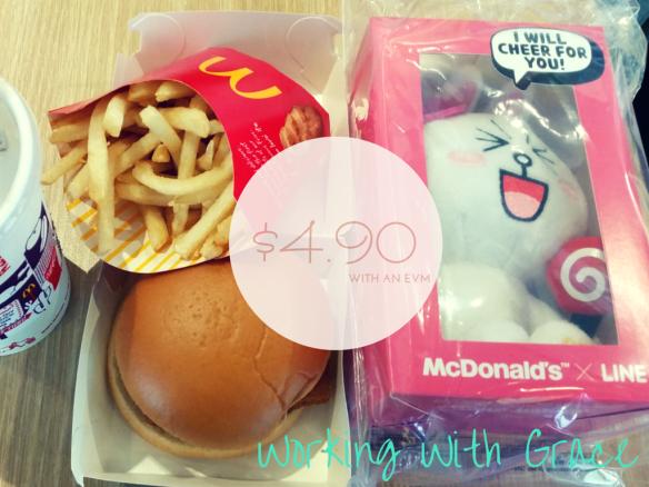 McDonald's x LINE plushies